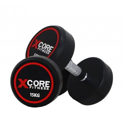 XCORE Fitness Rubberized Fixed Dumbbell (2.5kg - 17.5kg)